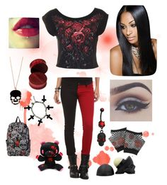 """""""Rebel circus"""" by charezanne ❤ liked on Polyvore featuring Tripp, Alex and Chloe, Bellezza, Forever 21, red and Reds"""