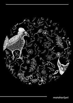 #illustration #flower #maleo #moidraw #pattern Celestial, Illustration, Cards, Illustrations, Maps, Playing Cards