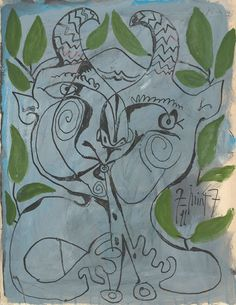 theories-of:  Pablo Picasso. The Faun Musician, 1947