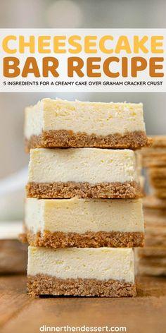 Cream Cheese Cheesecake, Cream Cheese Recipes, Cheesecake Recipes, Lemon Cream Cheese Bars, Mini Oreo Cheesecake, Lemon Cheesecake Bars, Cheesecake Squares, Easy Desserts, Delicious Desserts