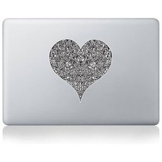 Vinyl Revolution The Heart Within Vinyl Sticker For Macbook ($11) ❤ liked on Polyvore featuring accessories