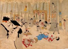 Henry Darger created an epic story in which the Vivian Girls, his heroines, fight against the evil, child-enslaving Glandelinians