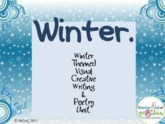 This is a 16 page unit written around the theme of Winter. The unit consists of creative writing and poetry, I have written two poems, one that I have used as a comprehension and the other is a type poem consisting of 4 stanzas of 4 lines and 8 words. The purpose is for the students to discuss the pattern and emulate it.