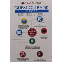 Oswaal CBSE Question Bank Class 12 Business Studies For March 2016 Exams PB.