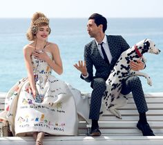 """Natalia Vodianova and Adrien Brody in """"L'Amour Toujours"""" by Peter Lindbergh for Vogue US July 2015"""
