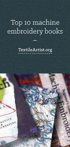 Top 10 machine embroidery books