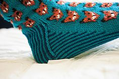 Worked from the toe up, this is a pair of socks that will not be easily forgotten. Adorable knitted foxes and a two color sole make this pattern whimsical, wonderful, and sly as a fox! Every moment of knitting them will be an experience you won't forget. Knitting Patterns, Crochet Patterns, Colorful Socks, Knit Picks, Knitting Socks, My Design, Knit Crochet, Whimsical, Sewing