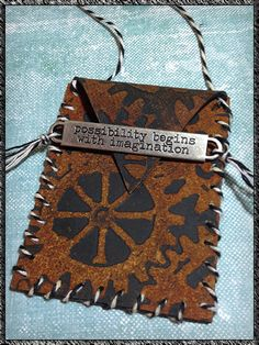 Simon Says Stamp Blog!: Faux Leather Wish Pouch By Linda Ledbetter!