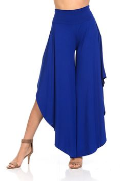 JDJ CO. Women's Layered Wide Leg Flowy Cropped Palazzo Pants, Length High Waist Palazzo Wide Legs Capri Pants - Personal Tools for Home Lists Products Pleated Pants, Palazzo Pants, Wide Leg Pants, Wide Legs, Dance Outfits, Fashion Pants, Short, Nice Dresses, Casual Outfits