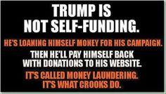 politics donald trump self funding payments