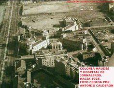 Hospital de jornaleros y colonia Maudes,Raimundo Fdez.Villaverde,Maudes,Alenza.P&B.