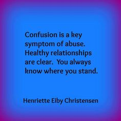 Narcissistic abuse: confusion is a key symptom