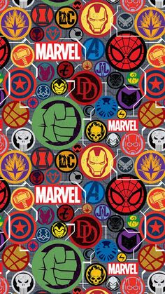 Marvel Superheroes Stickers iPhone Wallpaper - iPhone Wallpapers