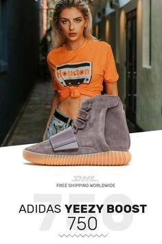 371b88e81 New Adidas Yeezy Boost 750 Light Grey   Gum