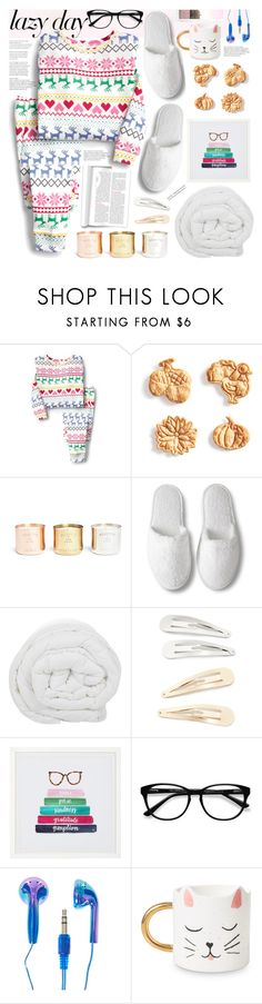 """Sleep In: Lazy Day"" by tinkabella222 ❤ liked on Polyvore featuring Sur La Table, Tom Dixon, The Fine Bedding Company, Kitsch, PBteen, EyeBuyDirect.com, Polaroid and LazyDay"