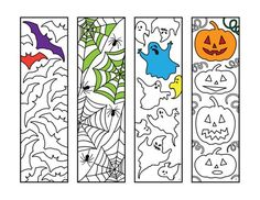 Halloween Bookmarks – PDF Zentangle Coloring Page – Scribble & Stitch Imprimibles Halloween, Manualidades Halloween, Printable Coloring Pages, Adult Coloring Pages, Coloring Books, Fall Halloween, Halloween Crafts, Halloween Designs, Zentangle