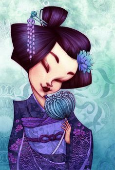 The Modern GEISHA ✿ :: Geisha Illustration by Christine Alcouffe