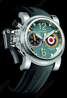 Chronofighter Oversize Overlord Mark III / Graham...I'm loving the British military fighter detailing on this: rivets, color, signage.