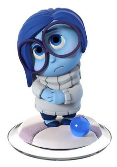 Disney Infinity INSIDE OUT Sadness gamepiece. Visit website for full line of Disney Infinity figures including pricing and availability. Disney Diy, Disney Pixar, Deco Disney, Sad Disney, Disney Magic, Disney Inside Out, Figuras Disney Infinity, Anime Chibi, 3d Character