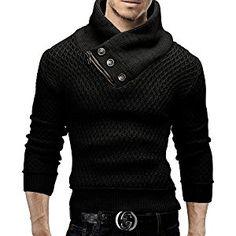 Merish Knitted sweater Knit Scarf Collar Cardigan Hoodie Slim Fit Men`s 516