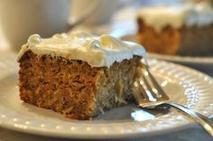 Today I'd like to take you back to a carrot cake I posted here years ago and still always turns out to be a favorite. It can be made ahead and frozen, but it also keeps well in the fridge for several
