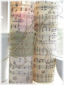 sheet music candles