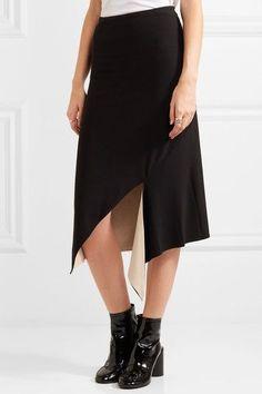 DKNY - Reversible Asymmetric Jersey Skirt - Black - large
