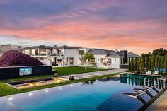 """@lastingfoundation on Instagram: """"Listed: $34,000,000 8 Bed * 14 Bath * 22,000 Sqft Be the first to occupy this newly constructed one-of-a-kind Calabasas hillside retreat,…"""" Prado, Beverly Hills, Calabasas Homes, Calabasas California, Infinity Edge Pool, Modern Mansion, Modern Houses, Mansions For Sale, Expensive Houses"""