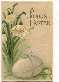 Vintage Easter Greetings Postcard  Big egg by sharonfostervintage, $1.50