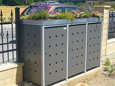 Mülltonnenbox Quadra aus Metall 3x 240 Liter RESORTI Müll…