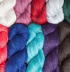 Diadem Fingering Yarn - $16.99 100g / Hank   The new crowning achievement of your yarn stash! Diadem is an ultra-luxe single ply fingering weight yarn with a very subtle differences in thickness – all while combining the plush softness of baby alpaca with the dazzling sheen of silk.
