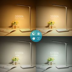 BYB Dimmable LED Desk Lamp Eye Caring Table Lamp, Flexible Arm, Stepless  Dimming