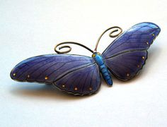 Very Large Silver and Enamel Butterfly Brooch Marius Hammer Perfect Enamel | eBay