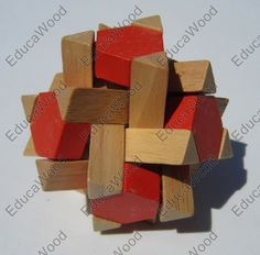 3D Wooden Puzzle - Game12 - Mind Game - Wooden Crystal Logic Toy Puzzle