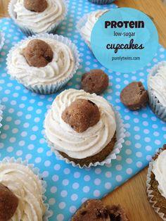 cookie dough protein cupcakes {grain-free, low-sugar}