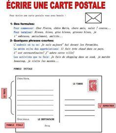 Écrire une carte postale | Fiches pedagogiques | Scoop.it
