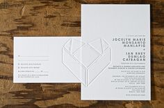 overlapping-heart-wedding-invitation  Norman's Printery