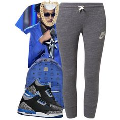 August by ibecreative on Polyvore featuring polyvore, fashion, style, NIKE, MCM and Michael Kors