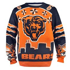 KLEW NFL Chicago Bears Jay Cutler Ugly Sweater, XX-Large, Blue  http://allstarsportsfan.com/product/klew-nfl-chicago-bears-jay-cutler-ugly-sweater-xx-large-blue/?attribute_pa_size=medium  Hand-Made Product! 100% Licensed Product for the NFL, NCAA, NHL, NBA, and MLS! Made of high quality materials!