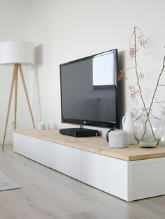 wood topped tv unit…