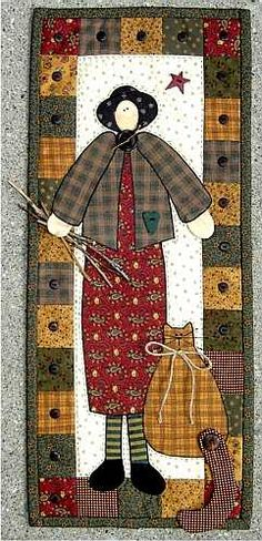 ~ Katy Kat Appliqued Wall Quilt---would be fun in felted wool, too Applique Patterns, Applique Quilts, Quilt Patterns, Primitive Quilts, Cat Quilt, Doll Quilt, Small Quilts, Mini Quilts, Anni Downs