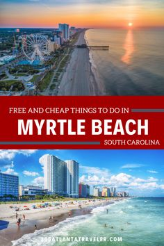 If you're heading to Myrtle Beach South Carolina for a family vacation this summer, you definitely do not want to miss this awesome list of free and cheap things to do there. Myrtle Beach is the perfect destination for family travel with kids. With attractions like The Boardwalk, Pavilion Park Amusement Park, magic and comedy shows, and so much more, you can create a fun-filled itinerary that everyone will enjoy. Oh yah, and of course the beach itself is amazing! What are you waiting for? South Carolina Vacation, Myrtle Beach South Carolina, North Myrtle Beach, Cheap Things To Do, Free Things To Do, Best Family Vacations, Family Travel, Myrtle Beach Boardwalk, Broadway At The Beach