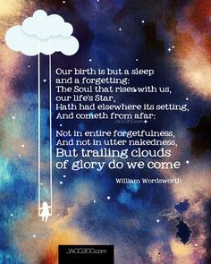 Our Birth is But A Sleep – Printable Poster