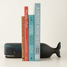 Bookends Victorian Whale