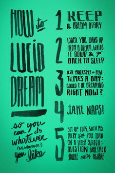 Dicas rápidas de como ter sonhos lúcidos
