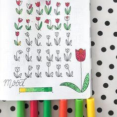 TRACKER // Do you use trackers in you're bullet journal? And What do You track? If i track a lot of things i procrastinate, and stop filling it in. . . So i like this little tulip drawings i made this month and track only fife things; • Read at leest fiftheen minutes a day • Water intake 7-8 glasses • Cook fresh meals(So no take out) • Handwriting practice • Mood . . #bujo #bulletjournal #bulletjournalcommunity #bulletjournalhabit #bulletjournalhabittracker #bulletjournalmoodtracker…