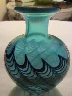 Robert Held Signed Canadian Designer Glass Vase – Designer Unique Finds