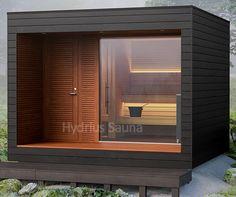 SAUNE da esterno hydrius SAUNE Backyard Garden Design, Backyard Patio, Modern Saunas, Sauna Design, Outdoor Sauna, Outdoor Spaces, Outdoor Decor, Garden Buildings, Prefab Homes