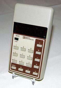 Vintage National Semiconductor Pocket LED Calculator, Model 850, Made in Malayasia, Circa 1976.