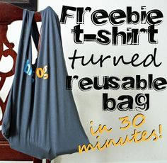 t shirt made into reusable bag